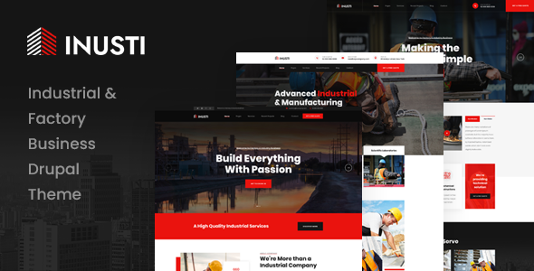 Inusti - Industrial & Factory Business Drupal 9 Theme
