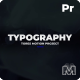 Typography Titles | MOGRt + PP - VideoHive Item for Sale