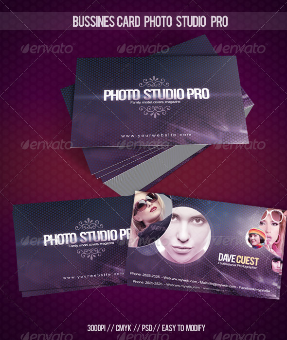 Business Card Photo Studio Pro - Creative Business Cards