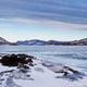 Panorama of frozen Lake Laberge Yukon T Canada - PhotoDune Item for Sale