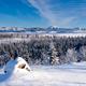 Scenic winter at frozen Lake Laberge Yukon Canada - PhotoDune Item for Sale