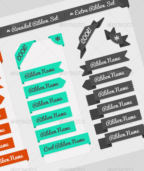 Website Web Element Ribbons - Miscellaneous Web Elements
