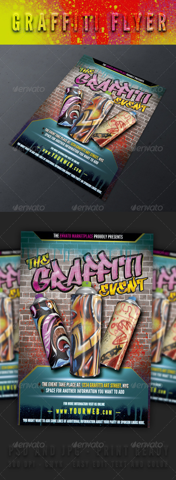 The Graffiti Event - Events Flyers