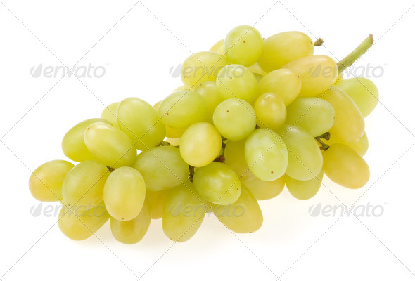 fresh grape fruits isolated on white - Stock Photo - Images
