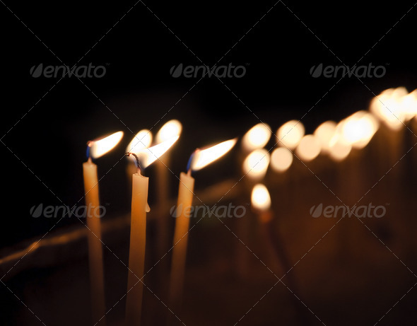 The Candles - Stock Photo - Images