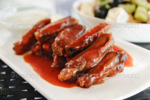 Chicken Wings - Stock Photo - Images