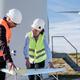 Renewable energy concept - Engineer people working at clean wind farm - PhotoDune Item for Sale