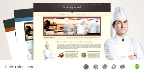 Free Download Gourmet - HTML/CSS portfolio and business template Nulled Latest Version