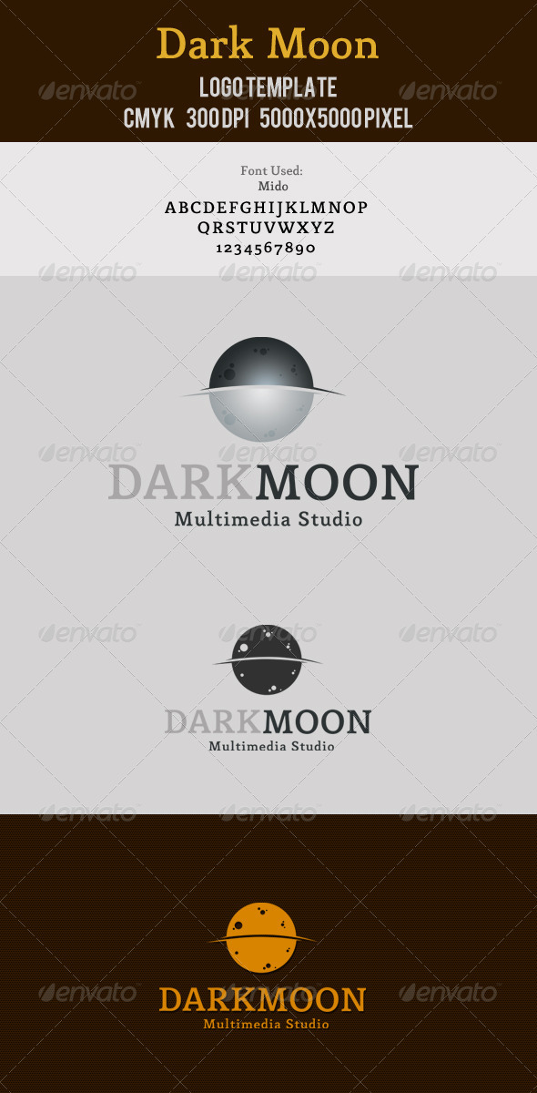 Dark Moon Multimedia Logo - Nature Logo Templates