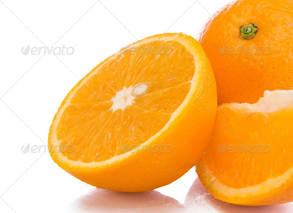 oranges fruit isolated on white - Stock Photo - Images