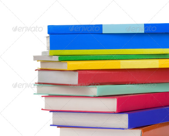 pile of new books - Stock Photo - Images