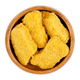 Vegan nuggets, based on soy and wheat protein, in a wooden bowl - PhotoDune Item for Sale