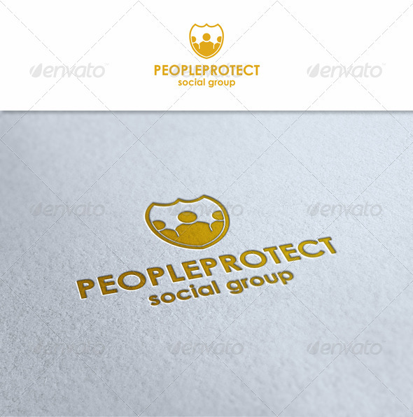 People Protect - Humans Logo Templates