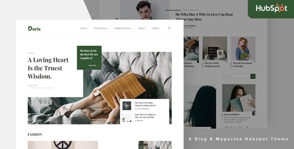 Doris – Blog and Magazine HubSpot Theme