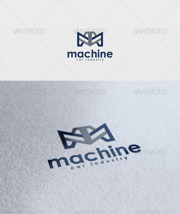 Machine Logo - Letters Logo Templates