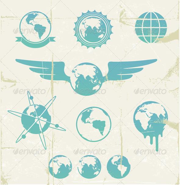 Retro emblems - Decorative Symbols Decorative