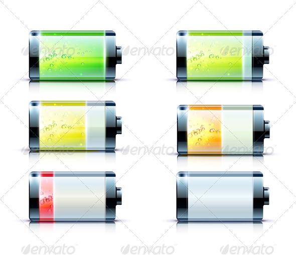 Battery level indicator  - Technology Conceptual