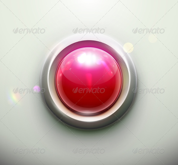 Red button - Objects Vectors