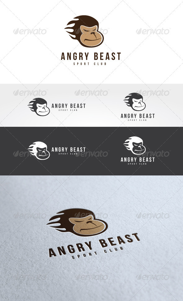 Angry Beast Logo Template - Animals Logo Templates
