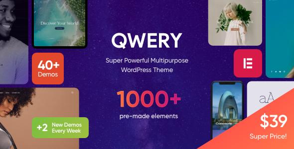 Qwery - Multi-Purpose Business WordPress Theme + RTL Nulled