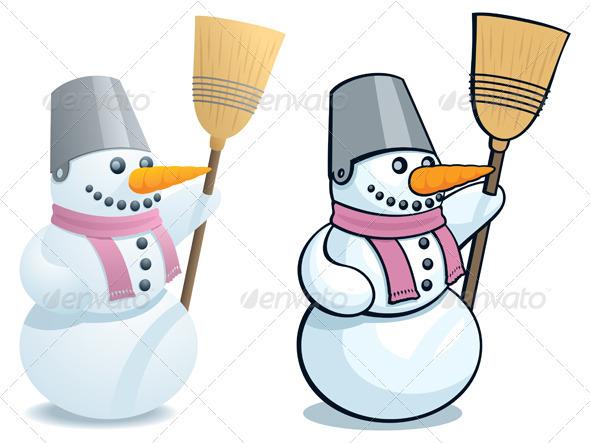 Snowman - Characters Vectors