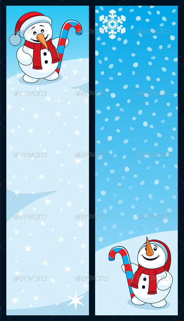 Snowman Banners - Seasons/Holidays Conceptual