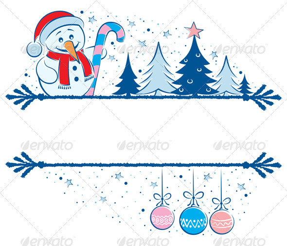 Snowman Frame - Borders Decorative