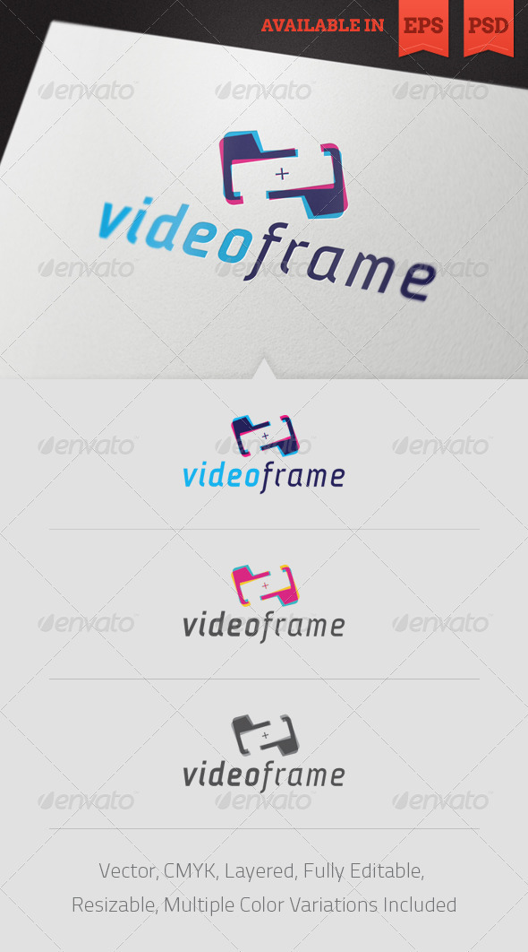 Video Frame Logo Template - Abstract Logo Templates