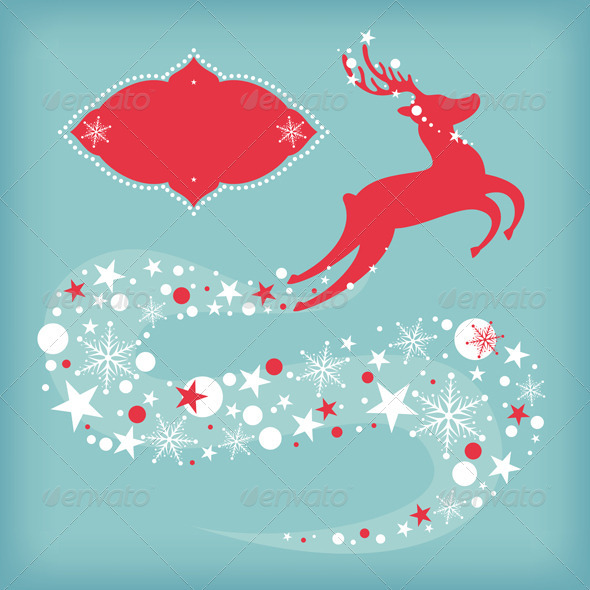 Christmas Card With Deer - Christmas Seasons/Holidays