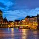 Delft Market Square Markt in the evening. Delfth, Netherlands - PhotoDune Item for Sale