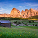 Mt.Langkofel at sunset, view from Seiser Alm, Dolomites, Italy - PhotoDune Item for Sale