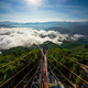 Tourist visited sea of fog in the morning, Betong, Yala, Thailand - PhotoDune Item for Sale