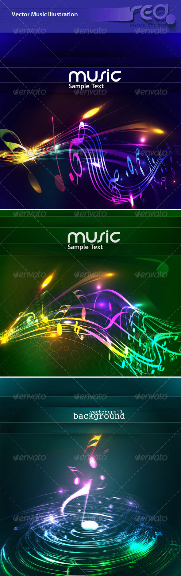 Colorful Music Background - Backgrounds Decorative