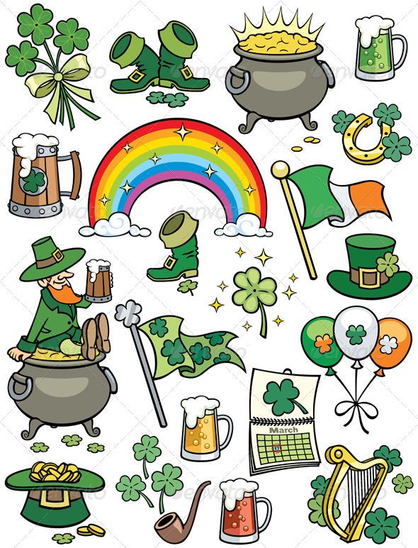 Saint Patrick's Day Elements - Objects Vectors