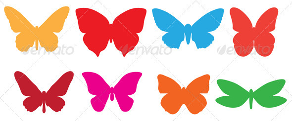 Colorful butterflies  - Decorative Vectors
