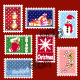 Set of Christmas Stamp Postage - GraphicRiver Item for Sale