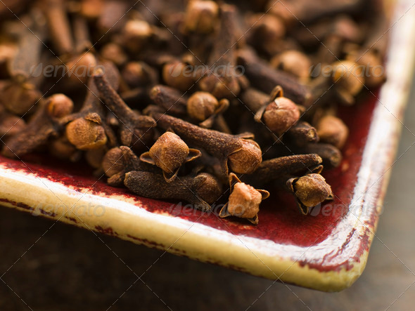 Plate of Whole Cloves - Stock Photo - Images