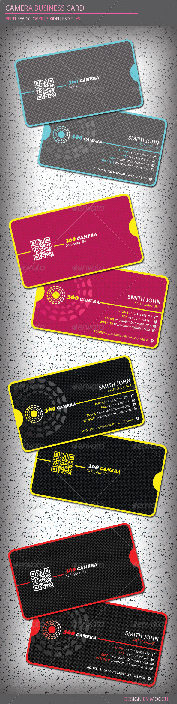 Camera Business Card - Creative Business Cards
