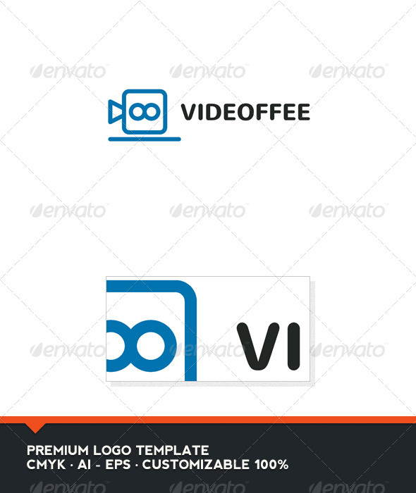 Videoffe - Coffee and Video Logo Template - Objects Logo Templates