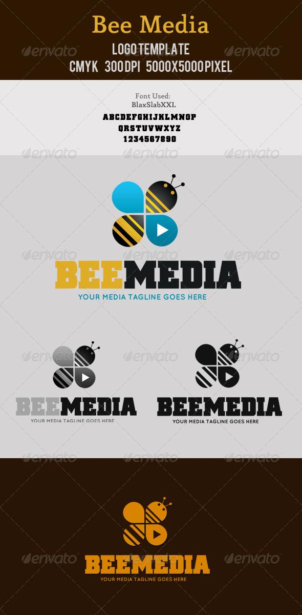 Bee Media Logo - Animals Logo Templates