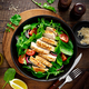 Grilled chicken breast and fresh vegetable salad with tomato, arugula, spinach and grilled chicken - PhotoDune Item for Sale