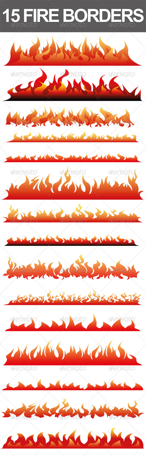 15 Fire Borders - Borders Decorative