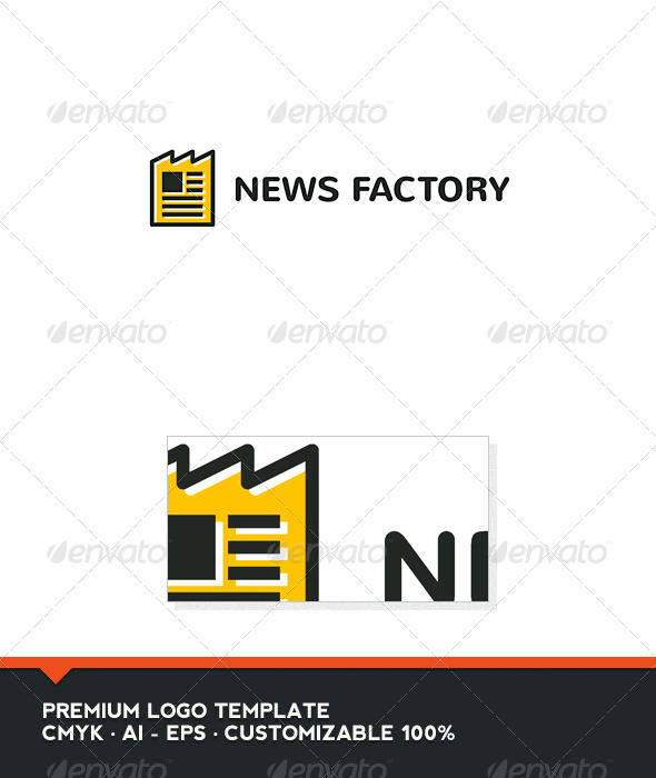 News Factory Logo Template by domibit | GraphicRiver