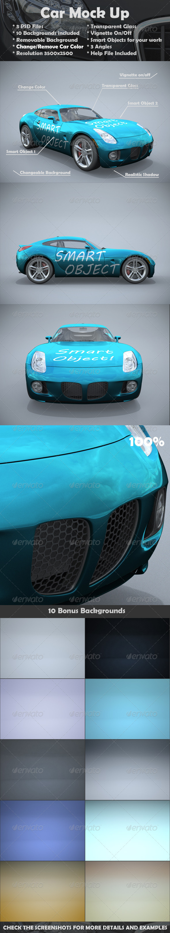 Car Mockup - Vehicle Wraps Print