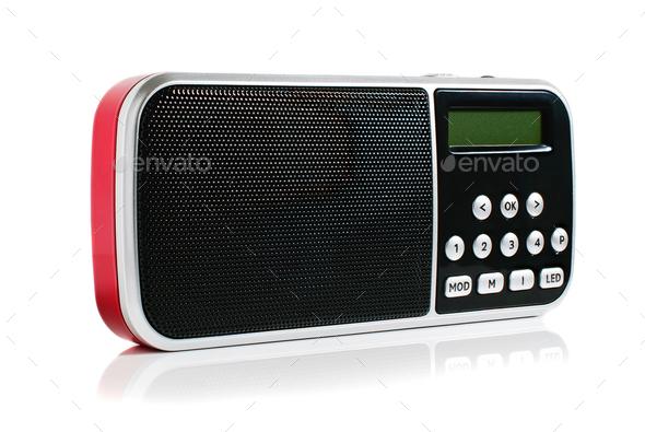 Red Pocket Radio - Stock Photo - Images