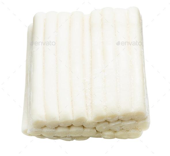 raw frozen tteokbokki (korean rice cakes) isolated - Stock Photo - Images