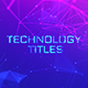 Technology Titles Mogrt - VideoHive Item for Sale