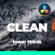 Clean Lower Thirds I Titles For DaVinci Resolve - VideoHive Item for Sale