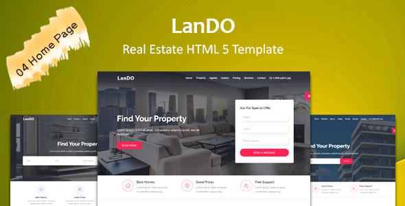 Fabulous LanDo - Real Estate HTML Template