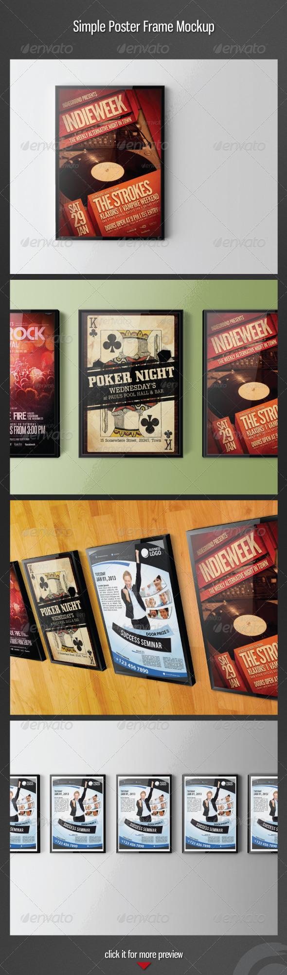 Simple Poster Frame Mockup - Posters Print